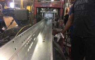 Extrusions coming out of machine